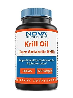 Nova Nutritions Krill Oil 500 mg 120 Softgels from Nova Nutritions