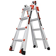 Multi-position ladder converts to A-frame, extension, trestle-and-plank, 90-degree and staircase with ease. Rock Lock adjusters quickly alter your ladder into different configurations. Tip & Glide wheels for easy transport from job to job. Type IA la...