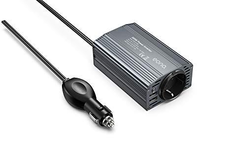 Spannungswandler 12v 230v / Modifizierte Welle Wechselrichter 300W /Eono Inverter/mit 2 USB Anschlüsse und Kfz Zigarettenanzünder Stecker
