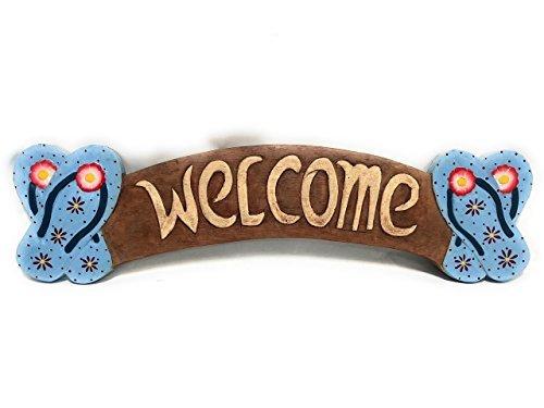 Norma Lily Welcome Schild 55,9cm Hausschuhe–Eintrag Zeichen