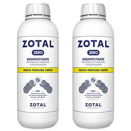 Desinfectante Superficies con Limon en Pack 2 de 2L Total – Zotal Zero | Limpiador Multiusos de Uso Industrial, Doméstico | Elimina Olores Desagradables y Limpia en Profundidad | Fuerte Microbicida