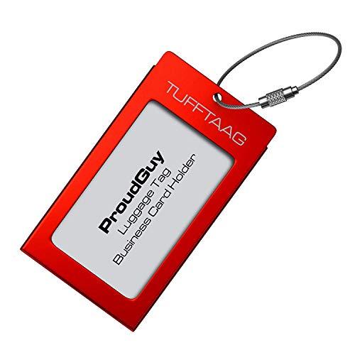 Etiqueta de Equipaje Titular de Tarjeta de Negocio TUFFTAAG por ProudGuy - Etiqueta de Aluminio...