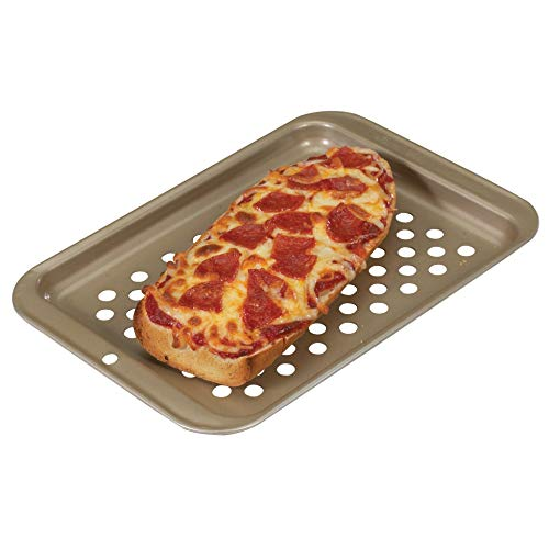 Unknown1 Compact Pizza Baking Sheet Silver Rectangle Metal 1 Piece