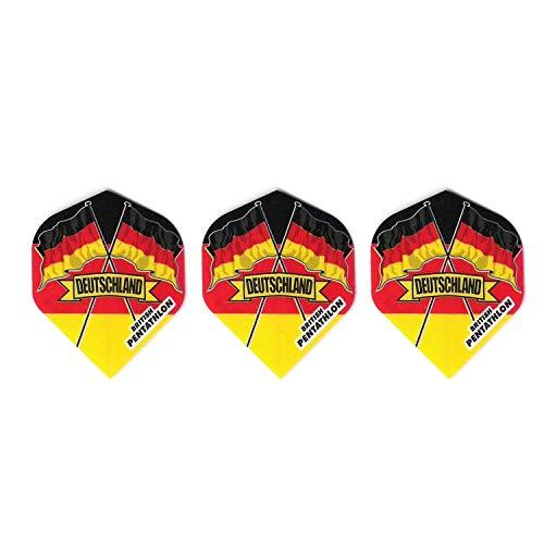Britannia Darts 30 Pentathlon Deutschland Dart Flights Standard (10 Sätze)