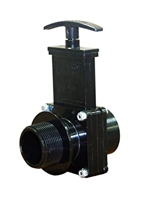 "Valterra 7108 ABS Gate Valve, Black, 1-1/2"" FPT x MPT by Valterra Products"