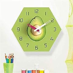 TIANYOU Wall Clock Avocado Bracket Clock Lanyard Clock Acrylic Silent Wall Clock Living Room Bedrooms Kitchen Bracket Clock 14 Inches Clockw #5