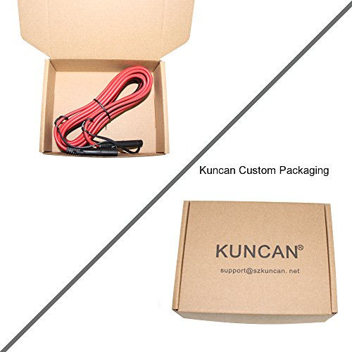 KUNCAN 12FT Sae to Sae 2 Pin Extension Cable DC Power 16awg Heavy Duty Battery Quick Disconnect/Connect Wire Harness with Sae Connectors with Dust Cap