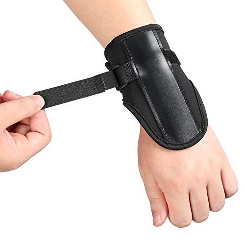 Banda de entrenamiento Banda de muñeca de alta confiabilidad Deporte Promueve la recuperación Cómodo de llevar Tablilla de metal oculta Deportes para exteriores(black)