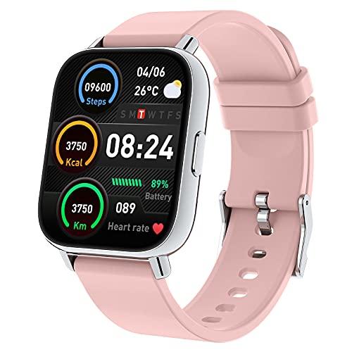 Togala Smartwatch,  1.69# Reloj Inteligente Mujer con Pulsómetro,  Calorías,  Monitor de Sueño,  Podómetro Pulsera Actividad Inteligente 24 Modos Deporte,  Impermeable Reloj Deportivo para Android iOS