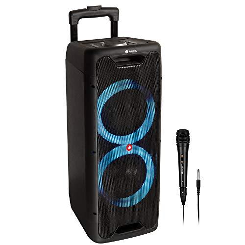 NGS Wild Jungle 1 - Altavoz portátil Compatible con Tecnología Bluetooth 200W (USB/Line IN/Entrada micrófono). Color Negro