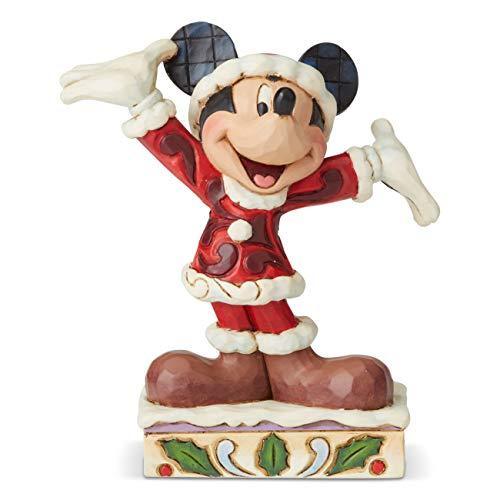 Disney Tradition by Jim Jore Figurina Topolino Natale, Resina, Multi-Colour, Taglia Unica