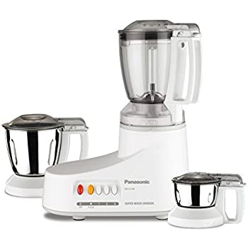 Panasonic MX-AC3O0-H 550-Watt Mixer Grinder with 3 Jars (Grey)