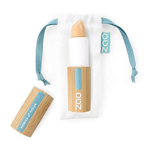 ZAO Concealer 491 elfenbein hell-beige Abdeckstift, Cover Stick, Korrektor, in nachfüllbarer Bambus-Dose (bio, Ecocert, Cosmebio, Naturkosmetik)