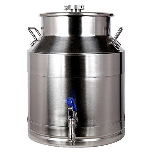 HONGLIBarril de Vino de Acero Inoxidable 25L barriles Sueltos de Acero Inoxidable...