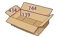 In The Box ダンボール 段ボール「衣類用C(744×434×高さ139mm) 10枚」茶色