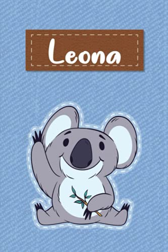 Leona: Lined Writing Notebook for Leona With Cute Koala, 120 Pages, 6x9