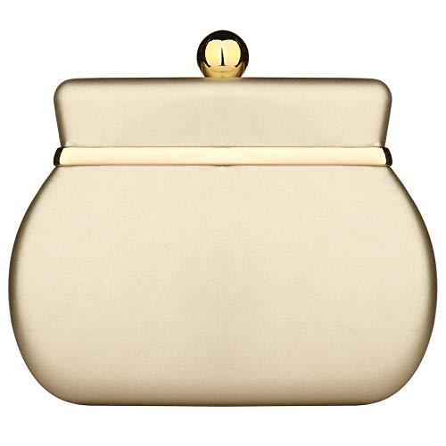 kiss me Damen-Handtasche im Vintage-Stil, mit Kette Gr. One size, gold
