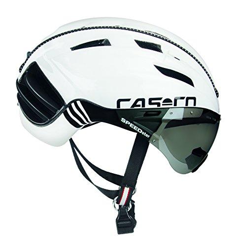 Casco Erwachsene Speedster-TC Plus Fahrradhelm, weiß/schwarz, L