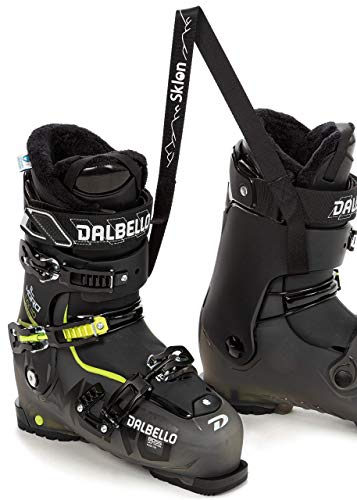 Sklon Ski Boot Carrier Strap New Innovative Winter Sport Accessory for Easy and Stress Free Boot Carrying - Cushioned Design - Black