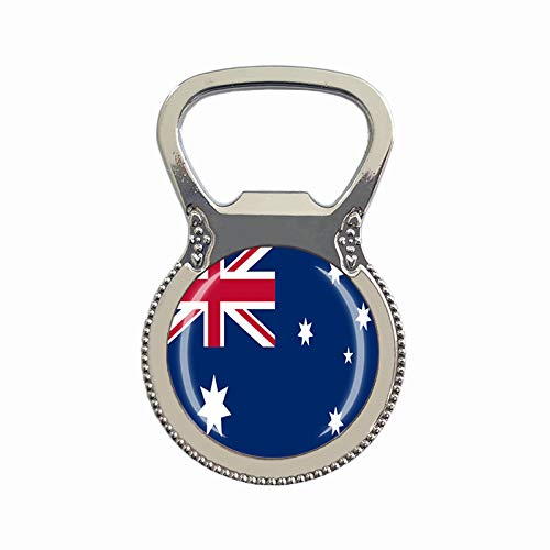 Flaschenöffner mit Australien-Flagge, Kühlschrankmagnet, Metallglas, Kristall, Reise-Souvenir, Geschenk, Heimdekoration