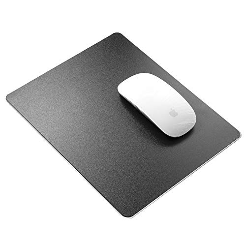 Hard Black Resin Gaming Mauspadmatte Smooth Magic Ultradünne Doppelseitenmausmatte Wasserdicht Schnelle und genaue Kontrolle für E-Sports-Spiele und Büro (mittel 9,45 x 7,87 Zoll)