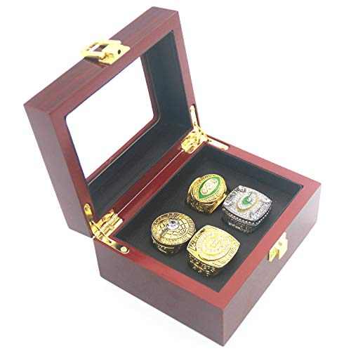 Green 'Bay 1966 1967 1996 2010 All 4-time Championship 'Packers Rings Set Size 11 with Box replicas Gifts for Women Mens kisd Boys Fathers