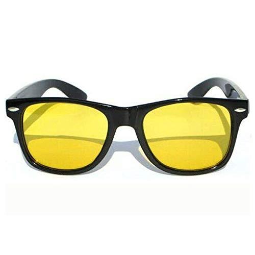 Yellow Lens Polarized Sunglasses Retro Horn Rim Anti Glare Night Vision Driving 3 ds16012136
