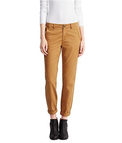 Aeropostale Womens Chino Casual Trouser Pants, Brown, 000 Regular