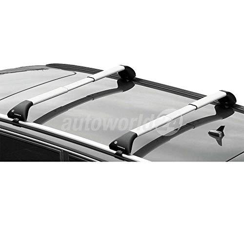 dakdrager, dakdrager, aluminium, voor Audi A3 Sportback, 5-deurs bouwjaar 11/2012-, met gesloten, opliggende railing