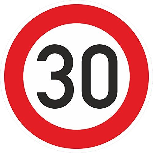 Geburtstagschild 30 Verkehrszeichen Verkehrsschild Straßenschild Geburtstagsschild Schild Geburtstag PVC 40 cm