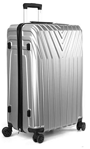 DK Luggage , Valigia  Unisex adulti bianco White/Tan Large (28')