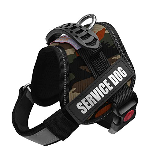 ALBCORP Woven Service Dog Reflective Vest Harness