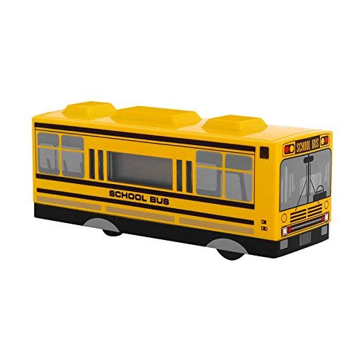 DreamRings School Bus LED Alarm Clock for Kids,Driving Alarm Clock with Cute Shape (Yellow)