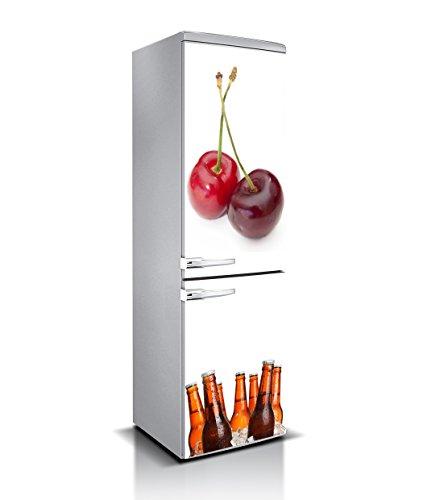 Vinilo para Frigorífico Cerezas Varias Medidas 185x70cm | Adhesivo Resistente y de Facil Aplicación | Pegatina Adhesiva Decorativa de Diseño Elegante