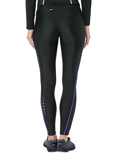 Ultrasport Advanced Damen Sporthose, Laufhose lang, Fitnesshose mit Kompressionswirkung, Quick Dry, Kontrast-/Flachnähte, Reflective Prints, justierbarer Bund und Schlüsseltsche mit Reißverschluss - 2
