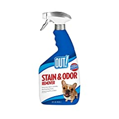 WHEN THE STAIN IS TOUGH, GET TOUGHER - Keep your carpets clean and odor free with OUT! Pet Stain & Odor Remover. Our powerful Pro-Bacteria and enzyme formula removes the toughest pet stains and odors, such as urine, vomit, feces, and blood. NO HAZMAT...
