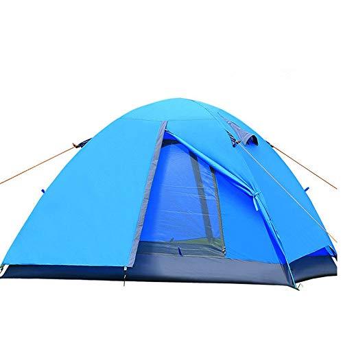 Tienda de Campaña Tienda de campaña al aire libre ultraligero poste de aluminio Carpa doble al por mayor al aire libre de puerta a prueba de lluvia Camping Cabañas y Construir para Camping Garden