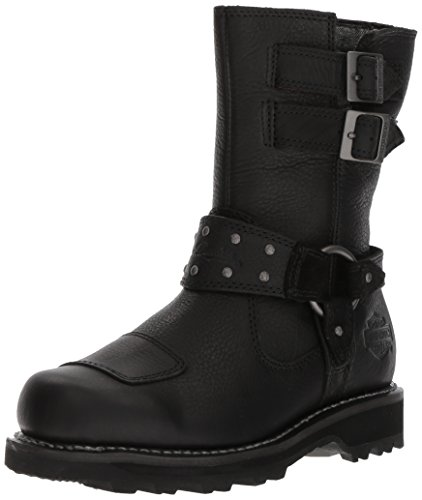 HARLEY-DAVIDSON FOOTWEAR Women's MARMORA Work Boot, Black, 9.5 M US