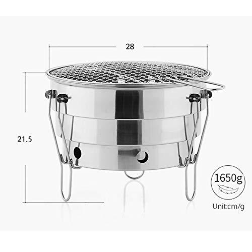 411GtYZSXwL - YDHWT Holzkohlegrill im Freien Mini Barbecue Grill Edelstahl Folding Grill Zubehör Tragbare Kochen Tools for Camping