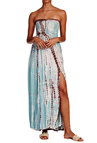 Elan Women's Strapless Beach Cover-Up Maxi (Small, Cabo Mint)