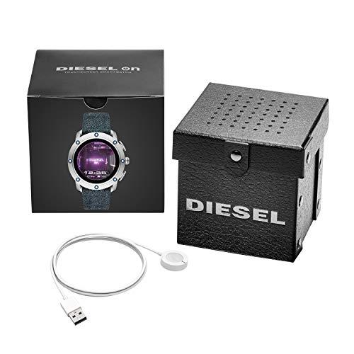 Diesel Homme Écran Tactile Digital Montre Connectée avec Bracelet en Tissu DZT2015