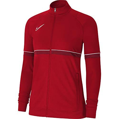 NIKE Chaqueta para mujer Academy 21 Track Jacket, Mujer, CV2677-657, rojo/blanco/rojo, large