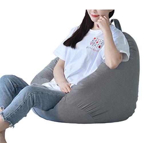 Pouf portaoggetti per bambini e adulti, impermeabile, per interni ed esterni, con cerniera, senza imbottitura, ideale come sedia da gaming e sedia da giardino