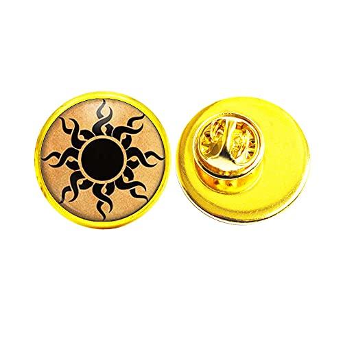 Keltisk solstift astrologi smycken astronomi brosch, vardagsbrosch, konstglas kupolstift, brudtärna gåva födelsedagspresent JV228