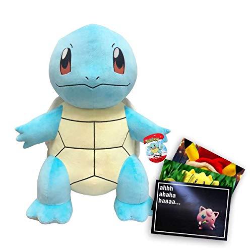 Lively Moments Pokemon XXL Plüschtier / Kuscheltier ca. 60 cm großes Schiggy und Exklusive GRATIS Grußkarte
