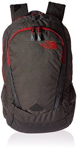 The North Face Vault Backpack - asphalt grey dark heather/ cardinal red, one