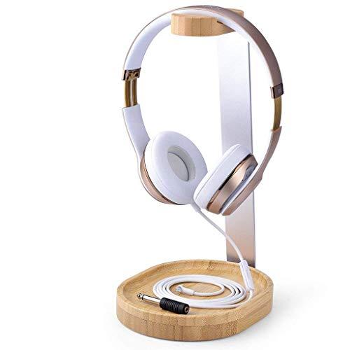 Avantree Universal Wooden & Aluminum Headphone Stand Hanger with Cable Holder, Sturdy Desk Headset Mount Rack for Sony, Bose, Shure, Jabra, JBL, AKG, Gaming Headphones Display - TR902 (Renewed)
