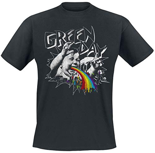 Green Day Shock Wave Männer T-Shirt schwarz S 100% Baumwolle Band-Merch, Bands