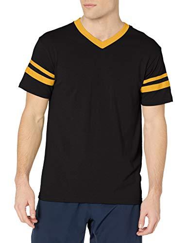 Augusta Sportswear Men's X-Large Augusta Sleeve Stripe Jersey, Black/Gold