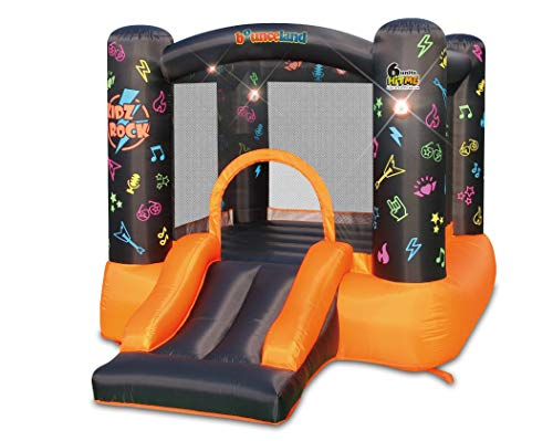 Kidz Rock Bounce House with Lights and Sound Interaction Inflatable Bouncer
